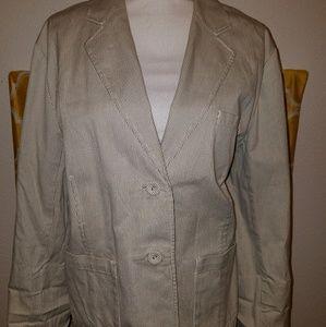 Talbots stripped blazer jacket
